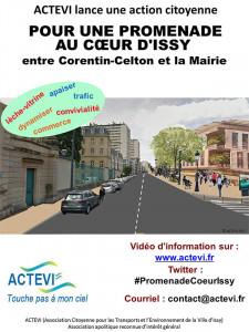 affiche promenade corentin-Mairie Issy