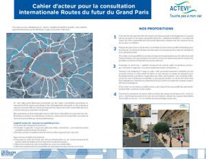 """Cahier d'acteur ACTEVI sur les """"Routes du Futur du Grand Paris"""""""
